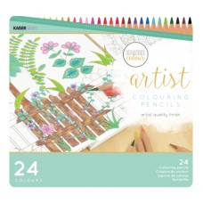 Kaisercraft Artist Coloured Pencils 24pc Tin